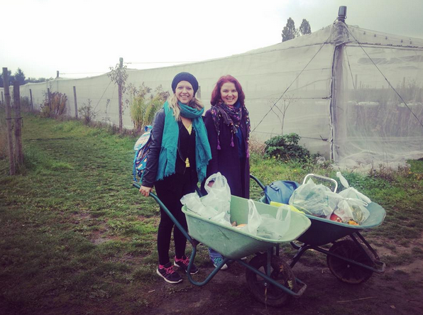 Getting organic veggies (especially pumpkins) just outside of Paris at Gally. Instagram Maja Savic.