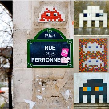 Street art par Invader