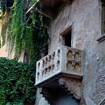 Le balcon de Roméo et Juliette à Vérone