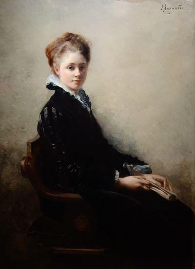 Portrait de Jeanne Gorges, (1874). Huile sur toile.
