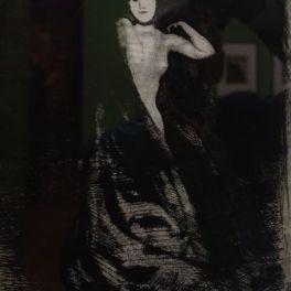 """La femme au vase extrait de la """"La femme"""" : suite de douze planches gravées à l'eau-forte, à la pointe sèche et à l'aquatinte. (1885-1887). Suite de douze planches gravées à l'eau-forte, à la pointe sèche et à l'aquatinte."""