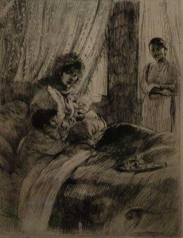 Extrait de La Femme (1885-1887). Suite de douze planches gravées à l'eau-forte, à la pointe sèche et à l'aquatinte.