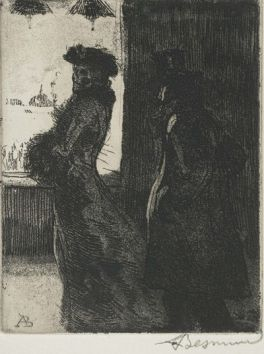 L'inconnue ou La Raccrocheuse (de la série «Elle»), (1900-1901) eau forte, 13,8 x 11 cm.
