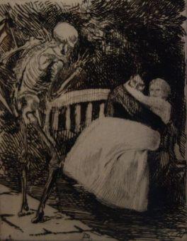 L'Avertissement (de la série «Elle»), (1900-1901 eau forte.