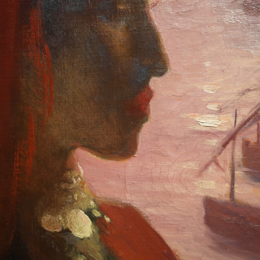 Détail de L'Algérienne (vers 1893) huile sur toile. ©JITMF