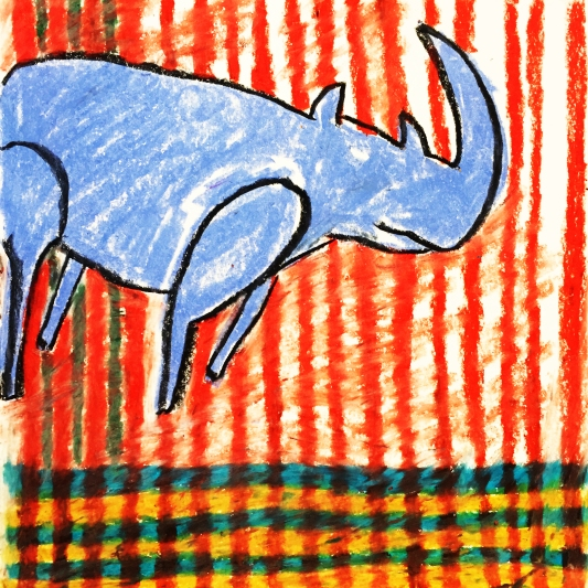 The Rhino, 25x25cm, 2018