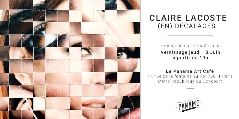 Invitation vernissage Claire Lacoste